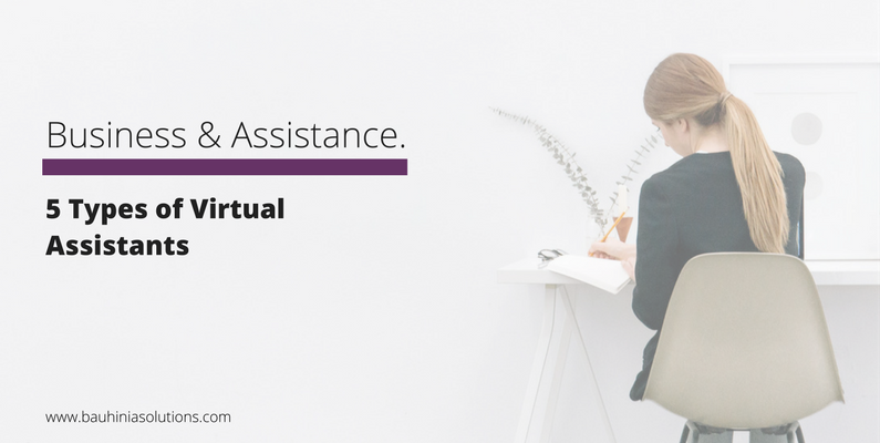 5 Types of Virtual Assistants