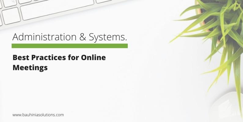 Best Practices for Online Meetings